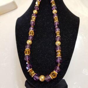 Amethyst/citrine necklace